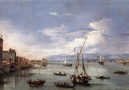 Francesco Guardi. Lagūna. Apie 1759 m.